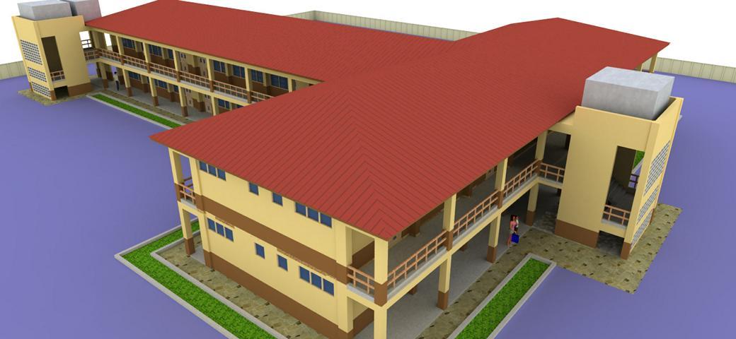 Modell der Schule in Namoo